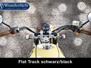 Manillar Flat Track cromo