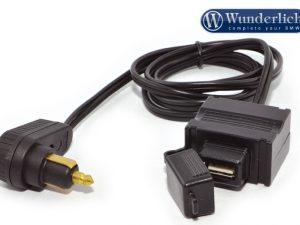 Suministro de corriente en la bolsa sobradepósito con conector USB