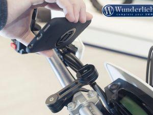 Soporte de smartphone para manillar de motocicleta «twist to lock» de