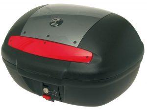 Topcase TC50 negro/plateado con soporte incluido