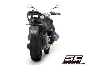 BMWR 1250 R (2019 – 2020) – RS – EURO 4<br>Silenciador SC1-R, Carbono, con tapa de fibra de carbono
