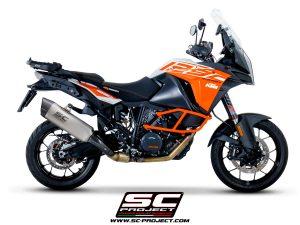 KTM1290 SUPER ADVENTURE (2017 – 2020)<br>Silenciador Adventure, Titanio