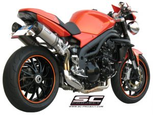 TRIUMPH SPEED TRIPLE 1050 (2005 – 2006)<br>Par de silenciadores Oval