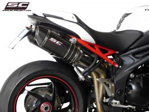 TRIUMPH SPEED TRIPLE 1050 (2011 – 2015)<br>Par de silenciadores Oval