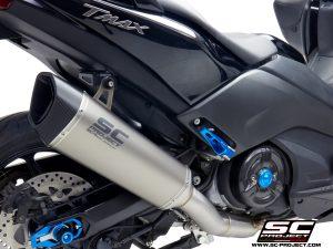 YAMAHATMAX 530 (2017 – 2019) – SX – DX – SX Sport Edition<br>Sistema de escape completo 2-1, Acero Inoxidable, con silenciador SC1-R