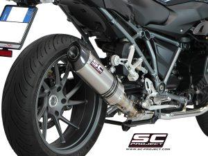BMWR 1200 R (2015 – 2016) – RS<br>Silenciador Oval, titanio, con tapa de fibra de carbono